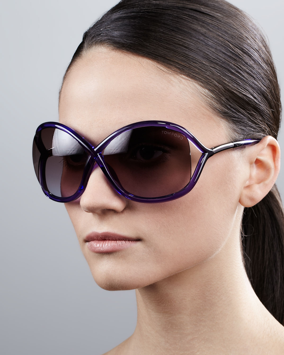 fd2674a460512 Tom Ford Whitney Bold Sunglasses in Black - Lyst