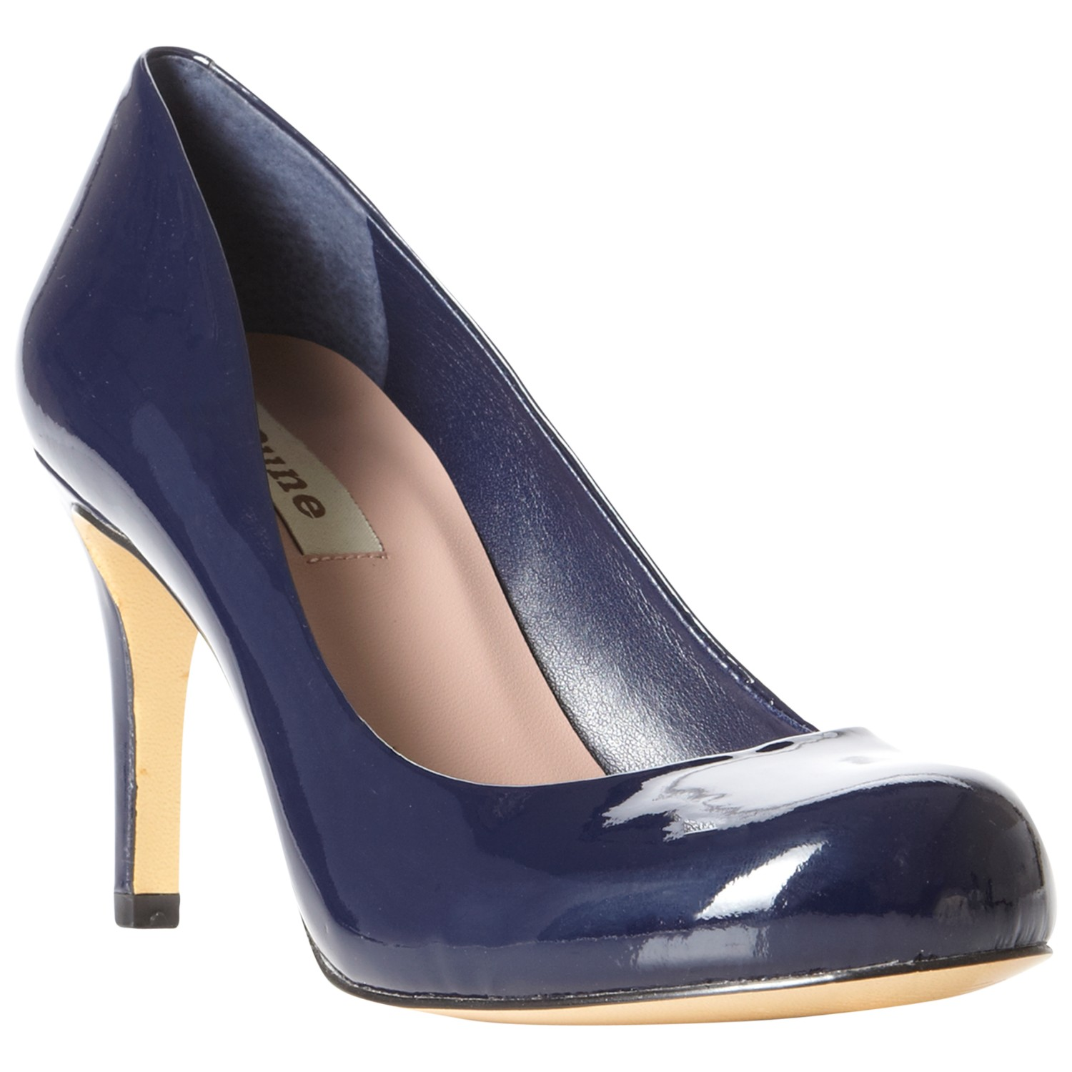 c17696956eb Dune Patent Leather Stiletto Heel Court Shoes in Blue - Lyst