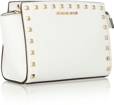 White Studded Shoulder Bag 65