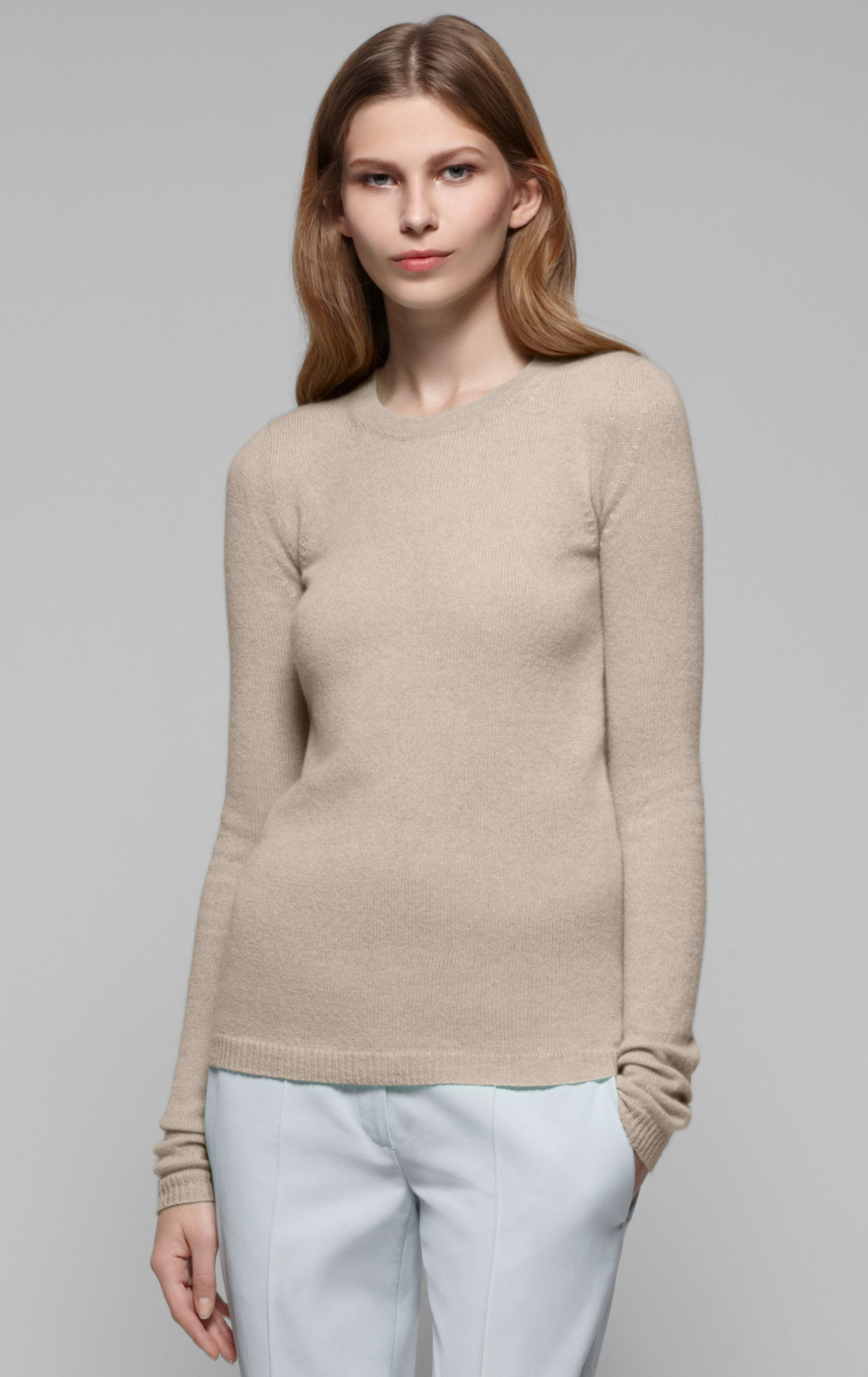 Theory Camille Cashmere Sweater in Natural | Lyst