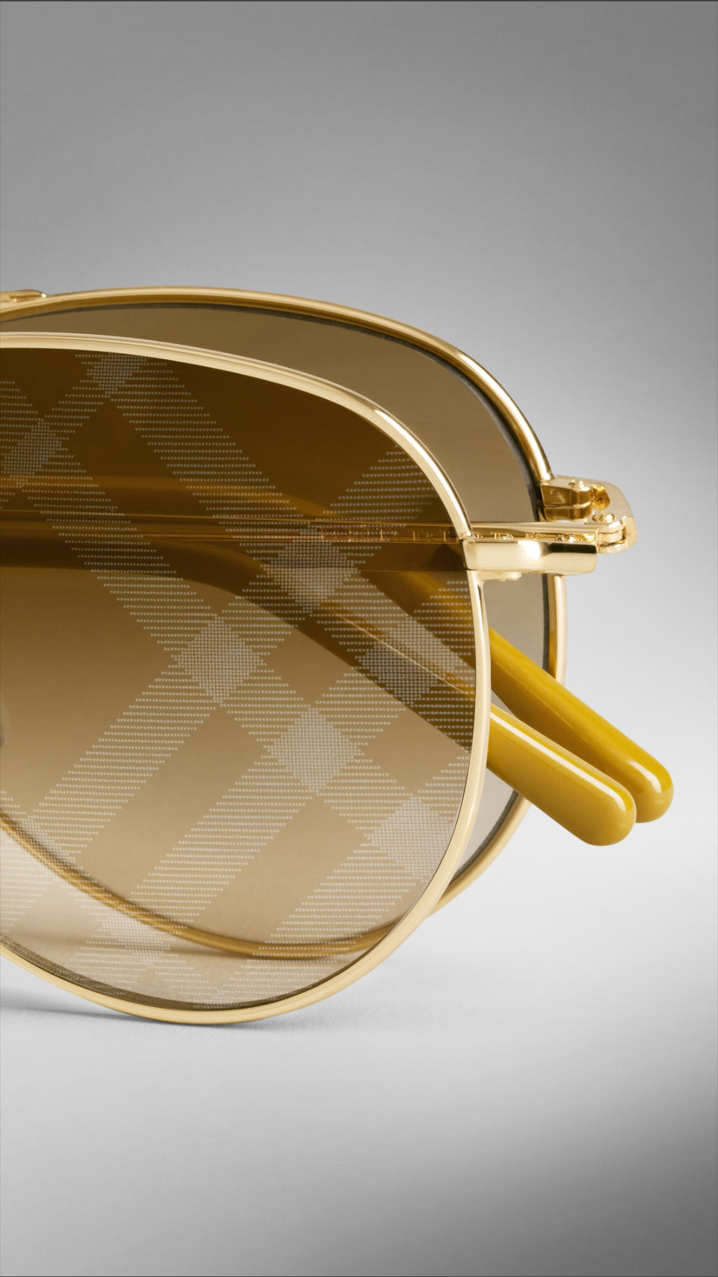 74b4461a058 Lyst - Burberry Spark Foldable Aviator Sunglasses With Check Lenses ...