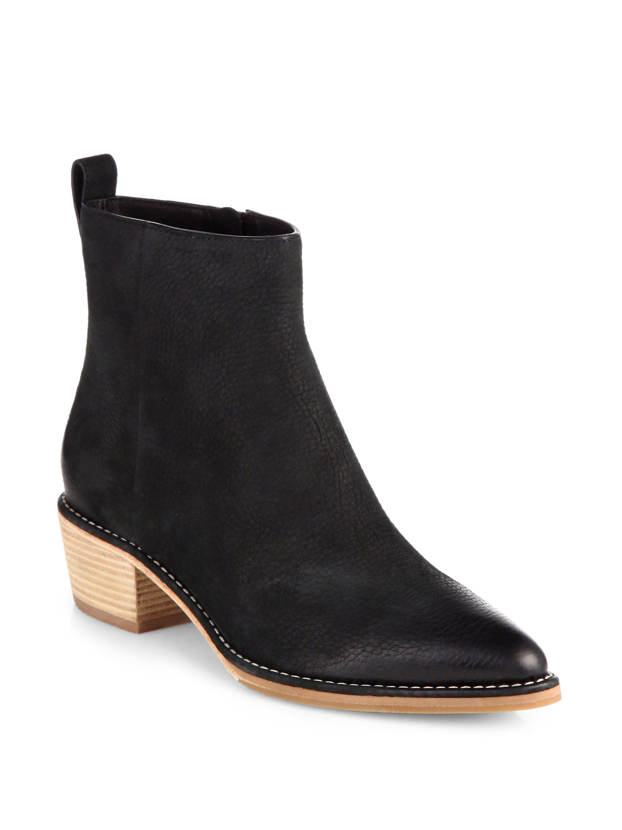 cole haan reilly nubuck leather ankle boots in black lyst