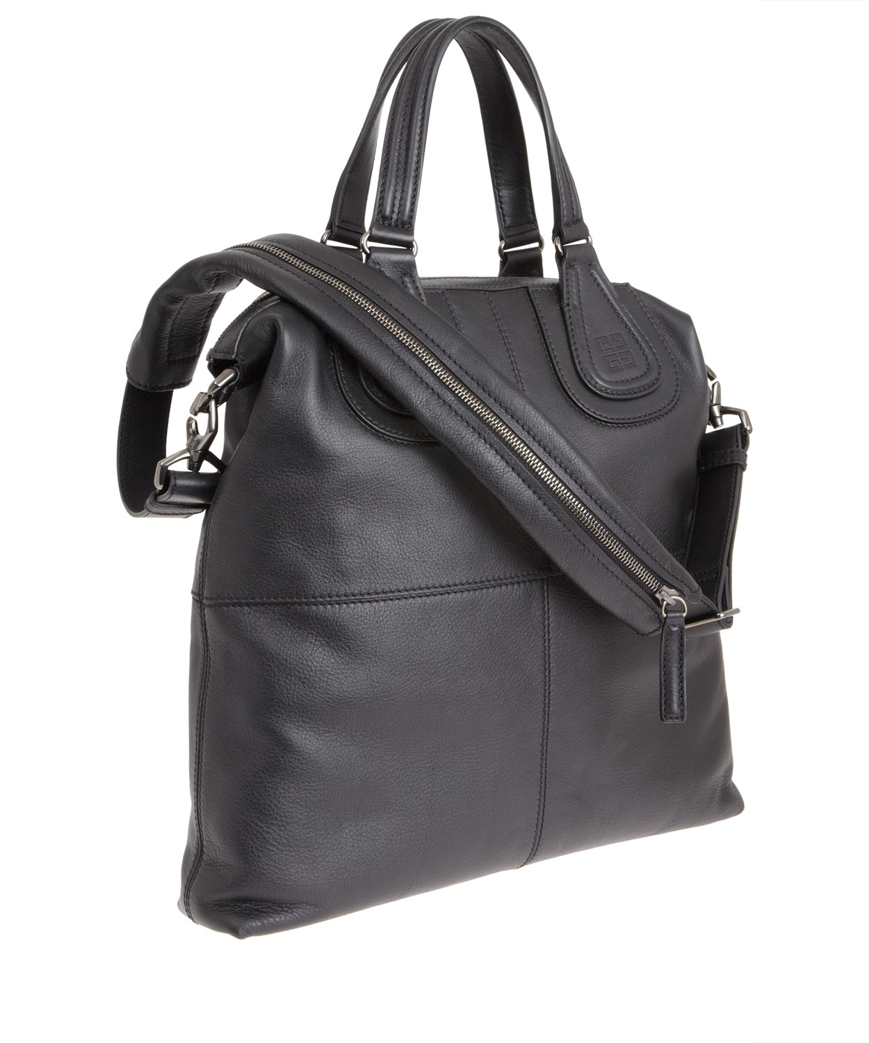 Lyst - Givenchy Black Nightingale Leather Tote Bag in Black for Men 3b85a0d88df90