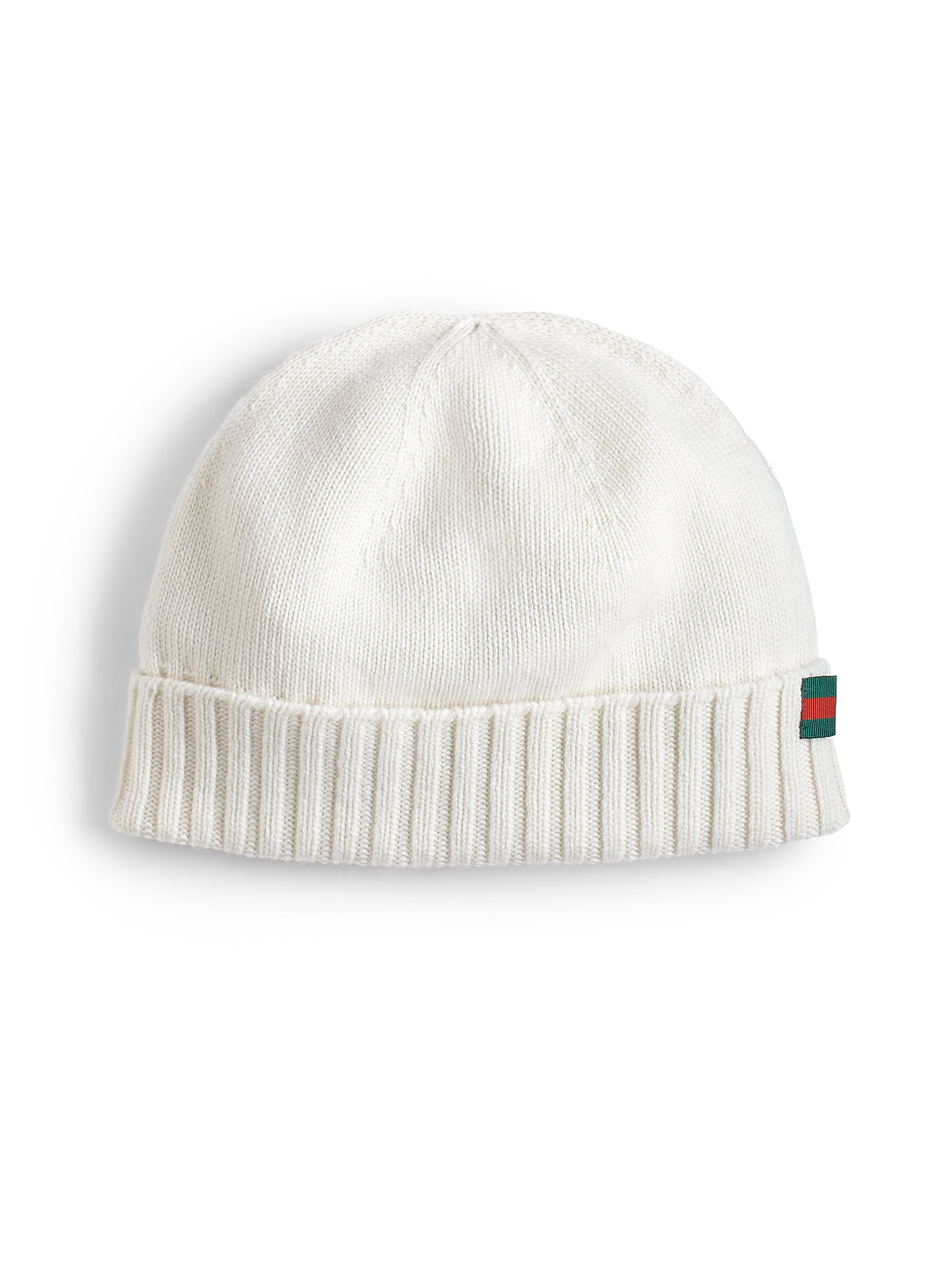 ef4479b9 Gucci Cashmere Beanie Hat in White for Men - Lyst