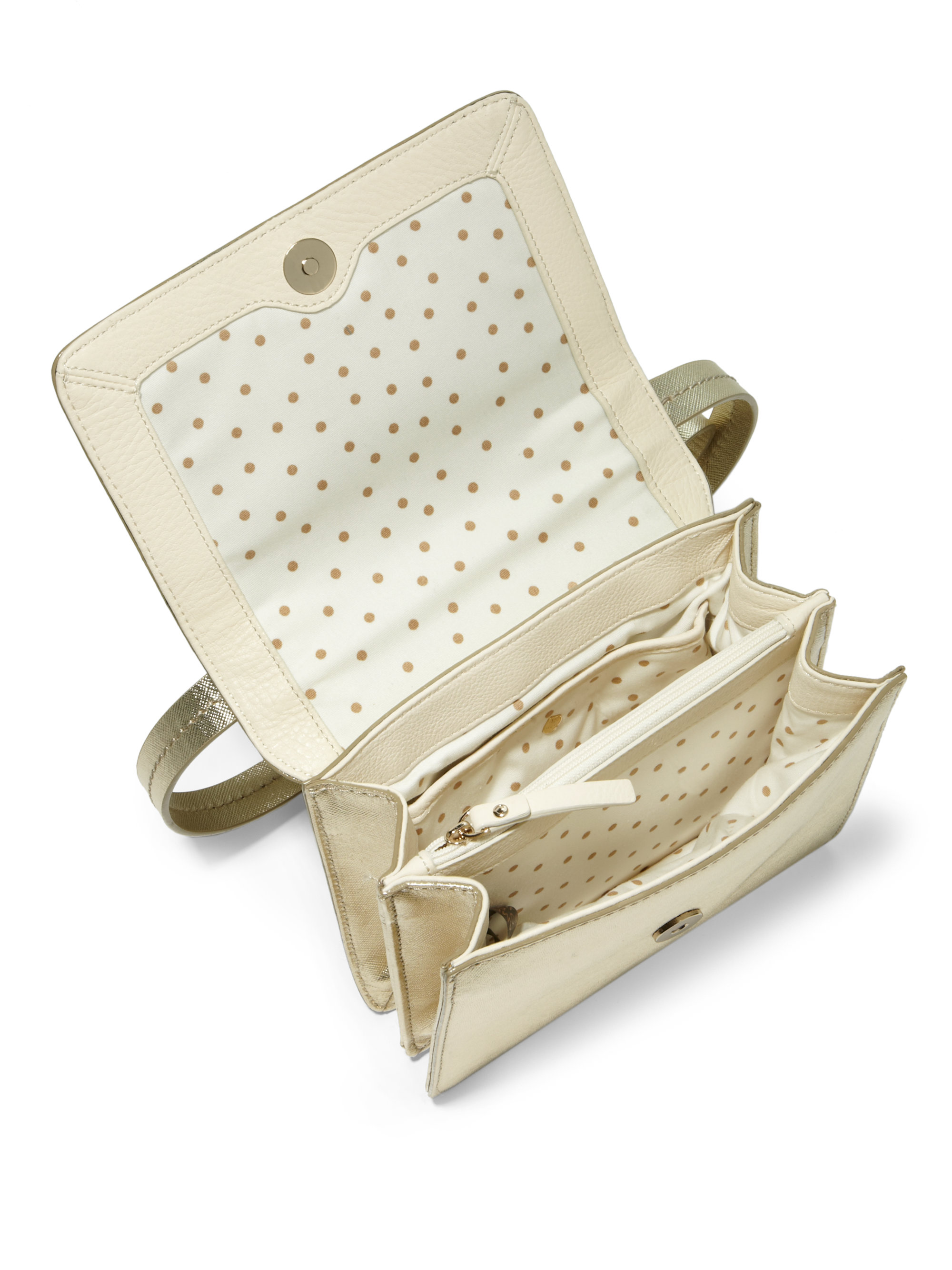 cde0aef8f1ee Lyst - Kate Spade Niconico Metallic Leather Crossbody Bag in Metallic