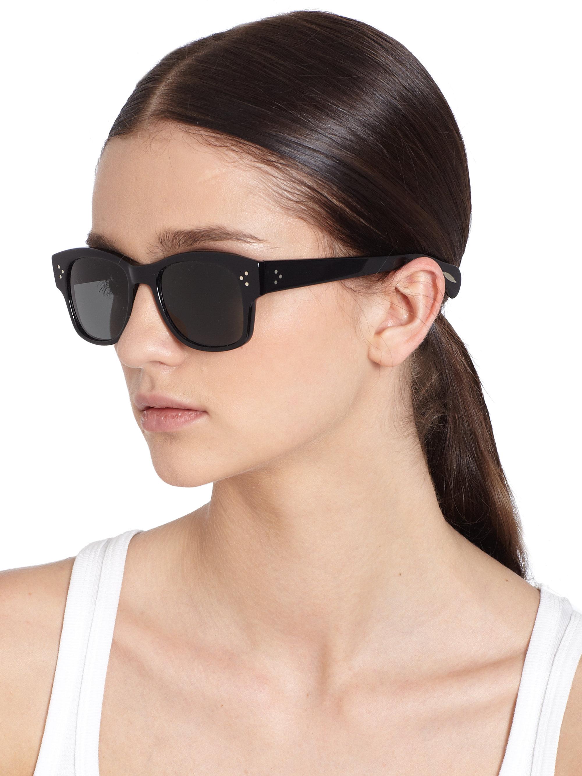 2801cd1c68 Oliver Peoples Jannsson Square Acetate Sunglasses/black in Black - Lyst