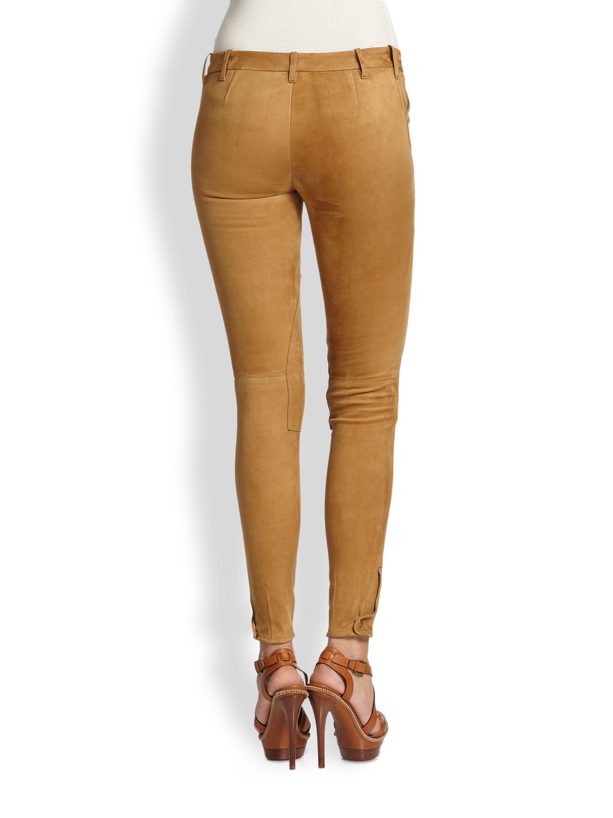 Lyst Ralph Lauren Blue Label Suede Palermo Jodhpur Pants