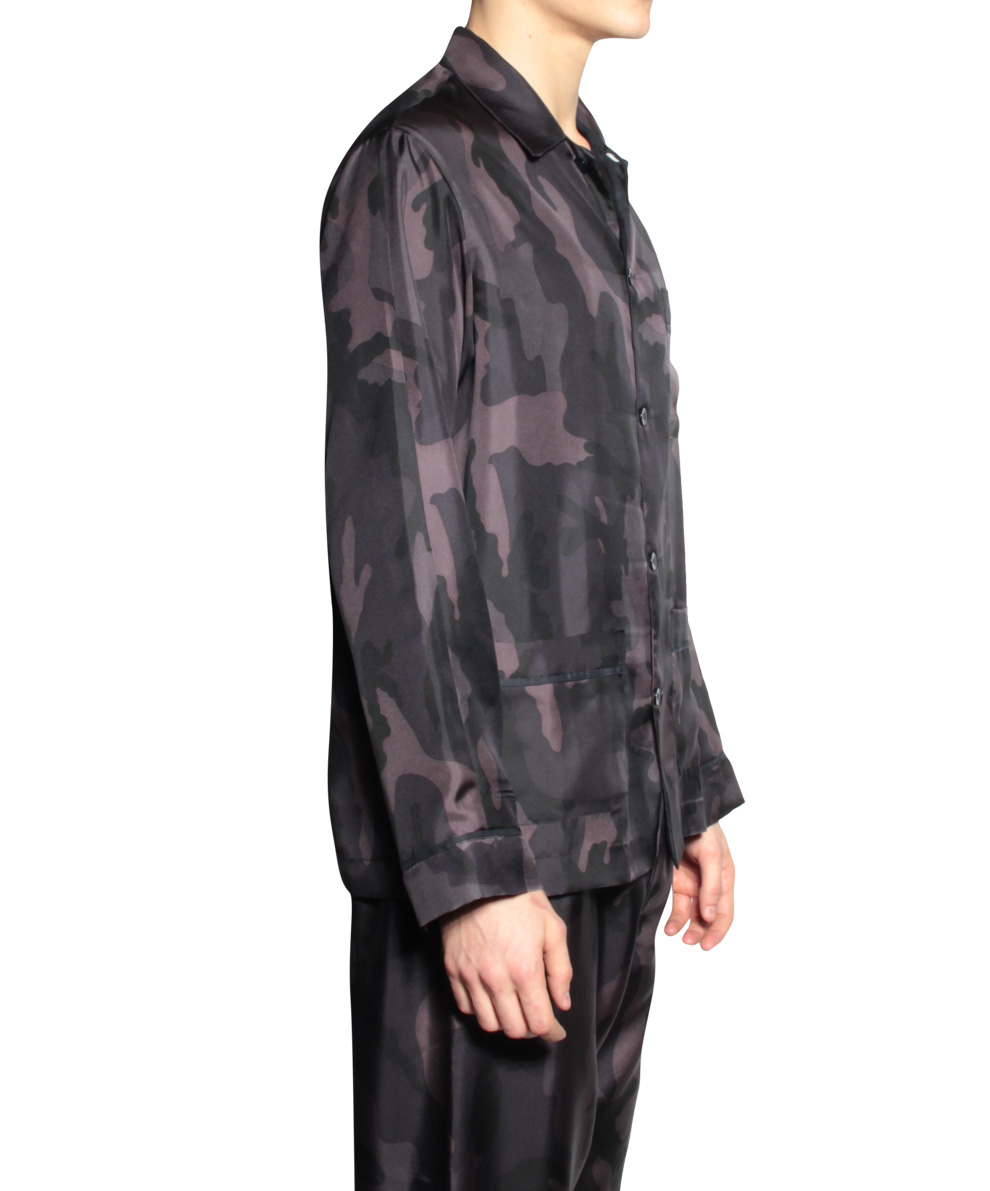 Valentino Pajamas Silk Camouflage In Black For Men Lyst