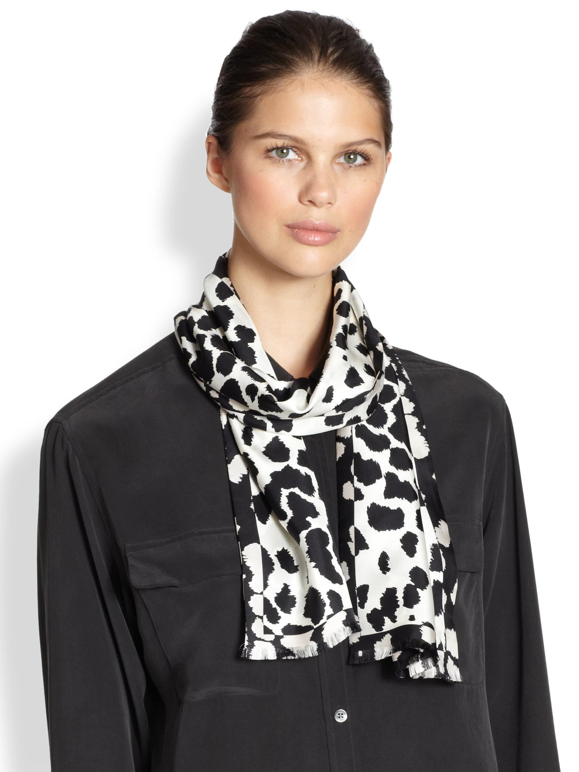 cashmere scarf wash feather gallery print evans ferrari accessories lyst multi franco wool