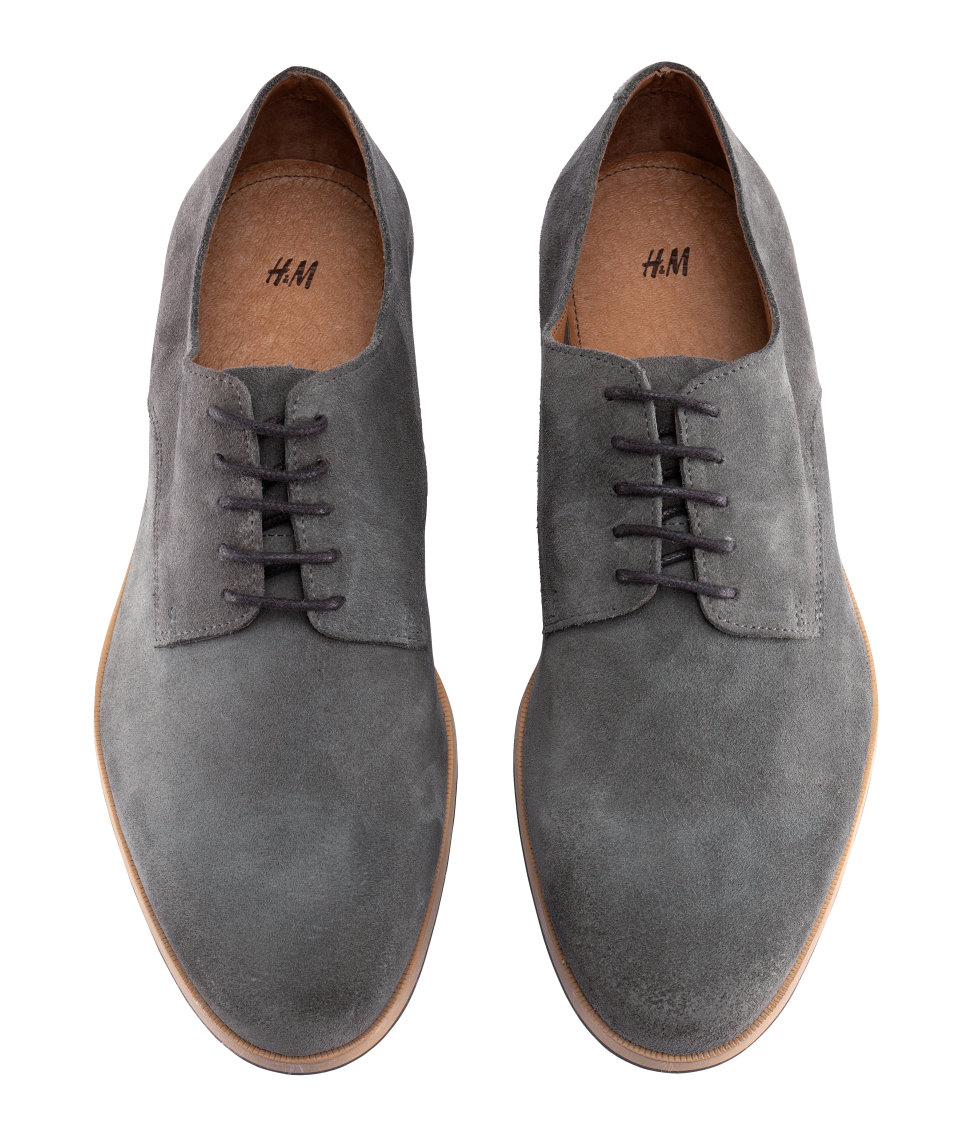 Blue Suede Shoes With White Soles