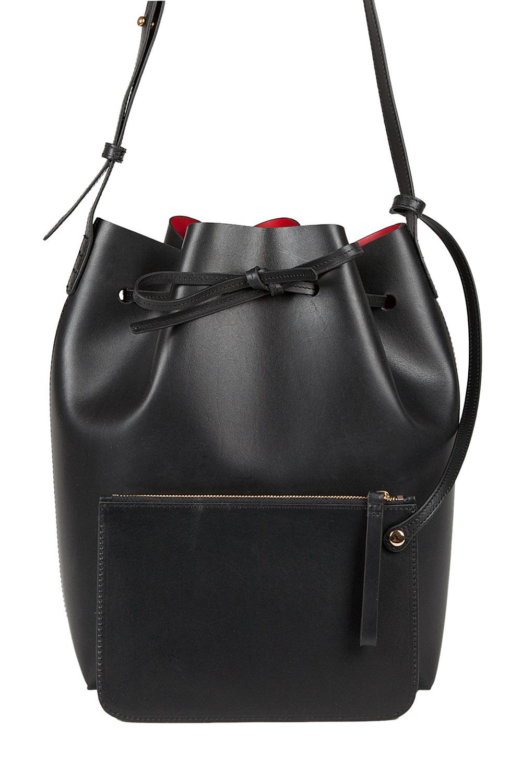 mansur gavriel bucket bag black wred lining in black lyst. Black Bedroom Furniture Sets. Home Design Ideas