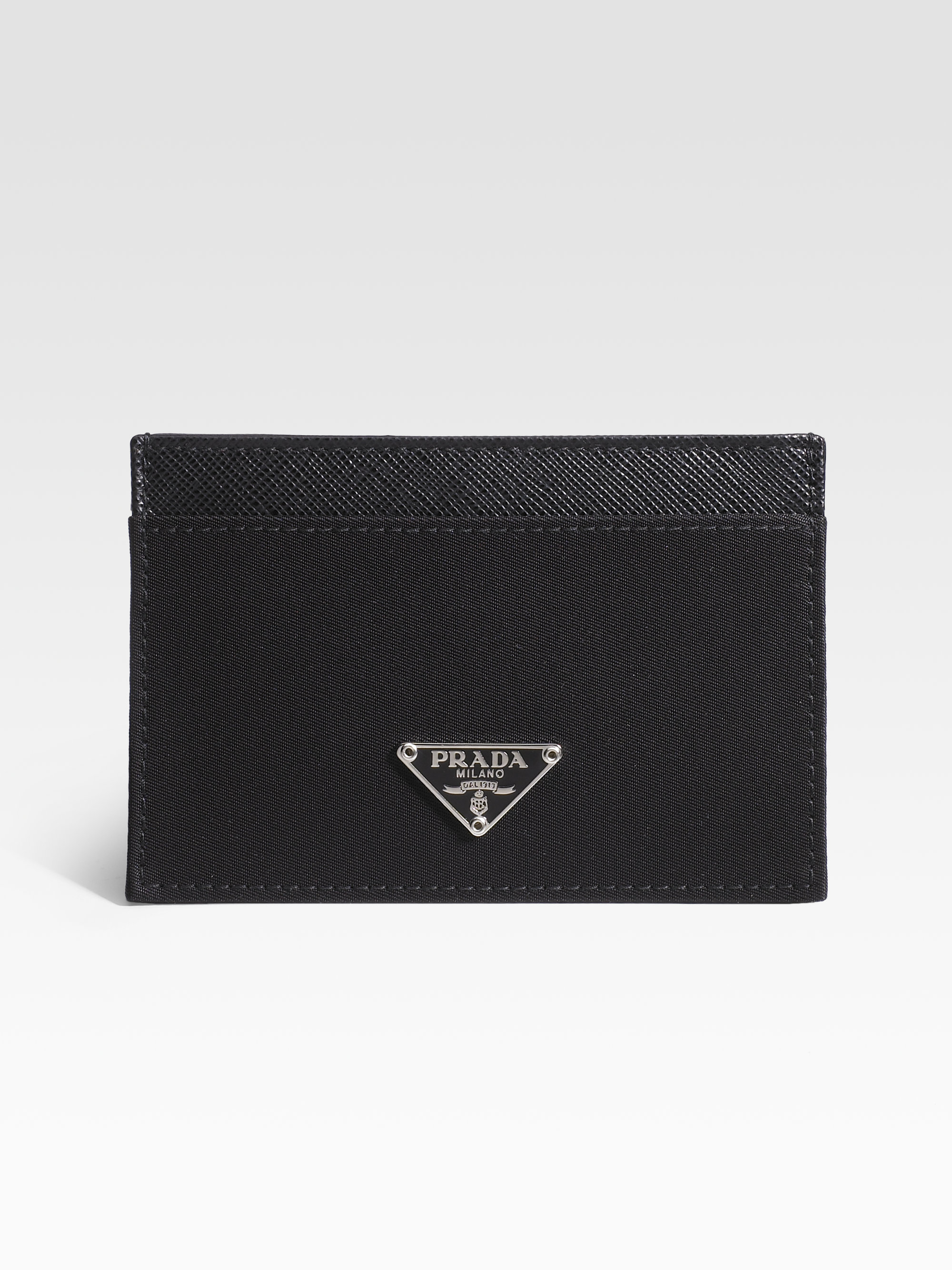 Silver Quilted Logo Card Holder Prada XuyYgZ8td8