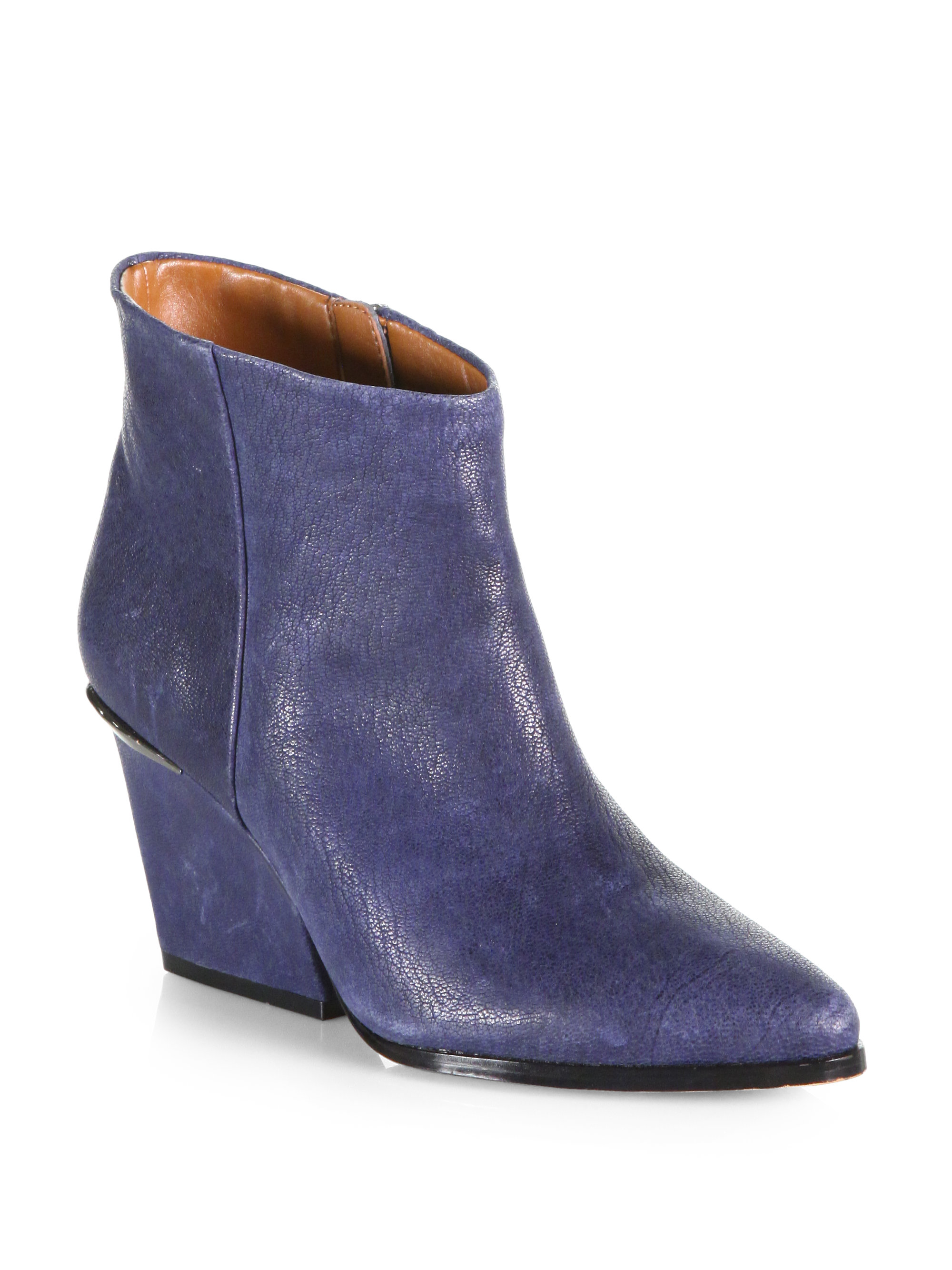 Lyst Boutique 9 Isoke Leather Western Ankle Boots In Blue