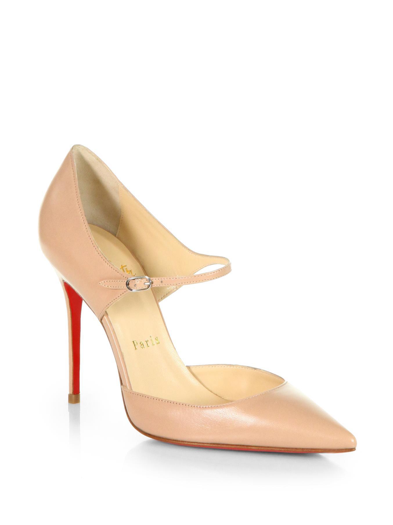 Shoeniverse Christian Louboutin Tirana Leather Mary Jane Pumps