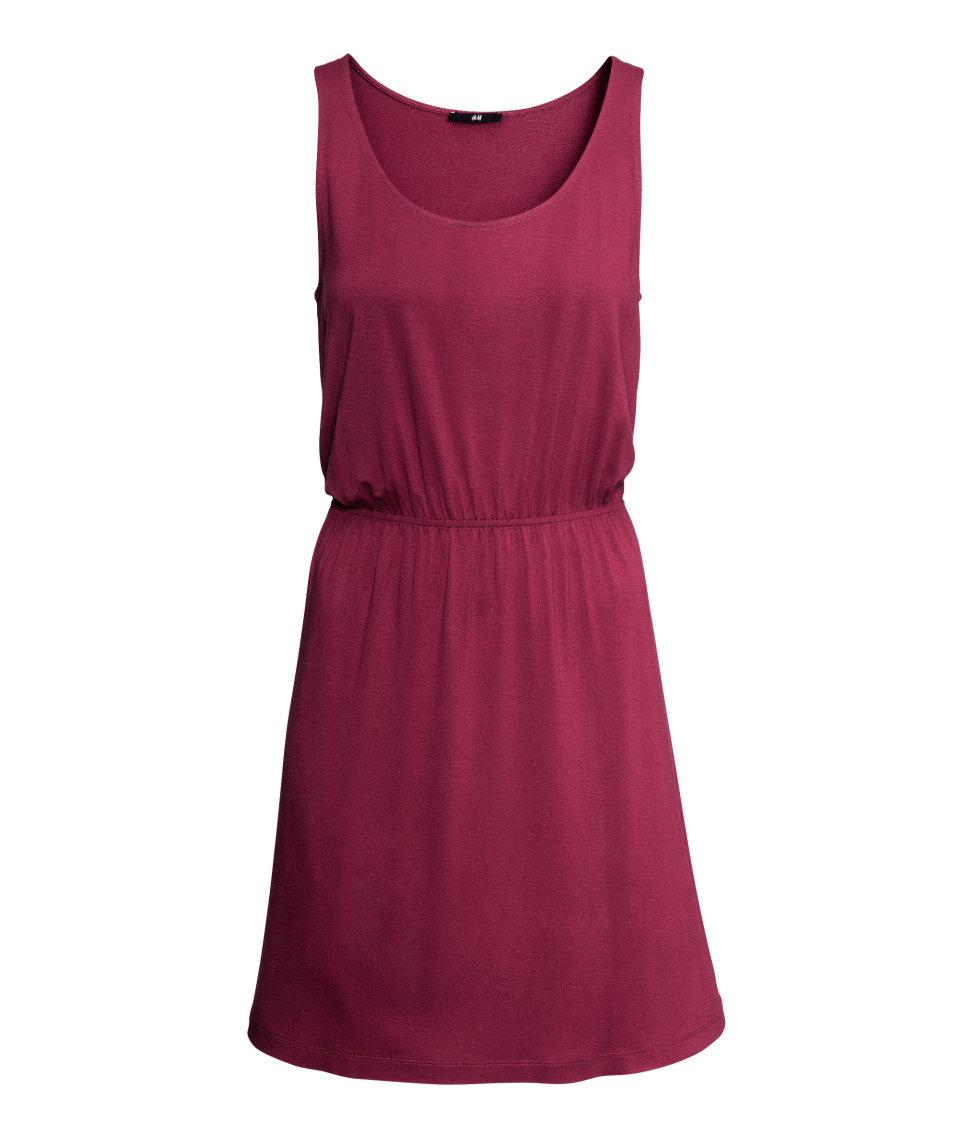 Lyst H Amp M Sleeveless Jersey Dress In Purple