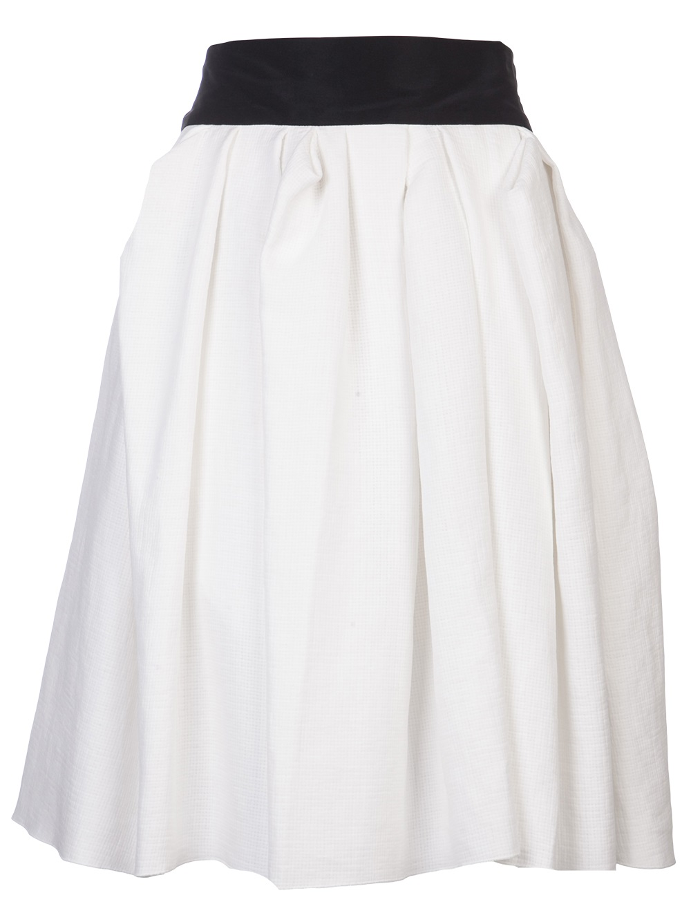 lanvin pleated bow back skirt in white lyst