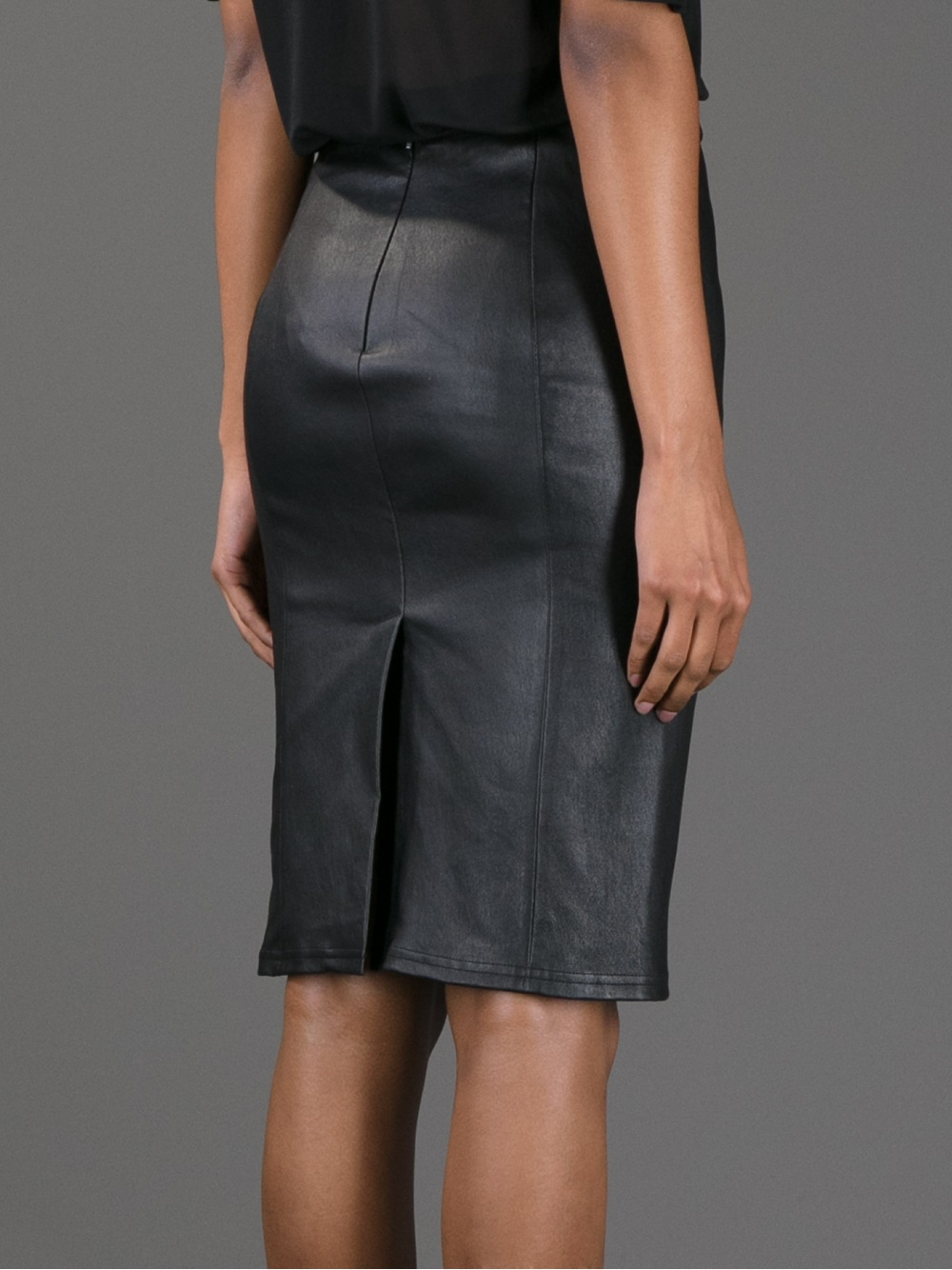 roberto cavalli quilted leather skirt lyst