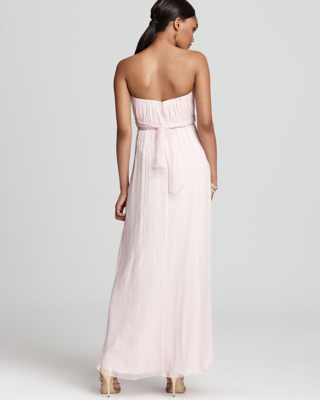 4a1ecc6a80a2 Amsale Strapless Dress Long in White - Lyst