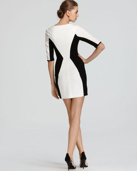 Color Block Dresses Black And White Dress Terri Color Block in