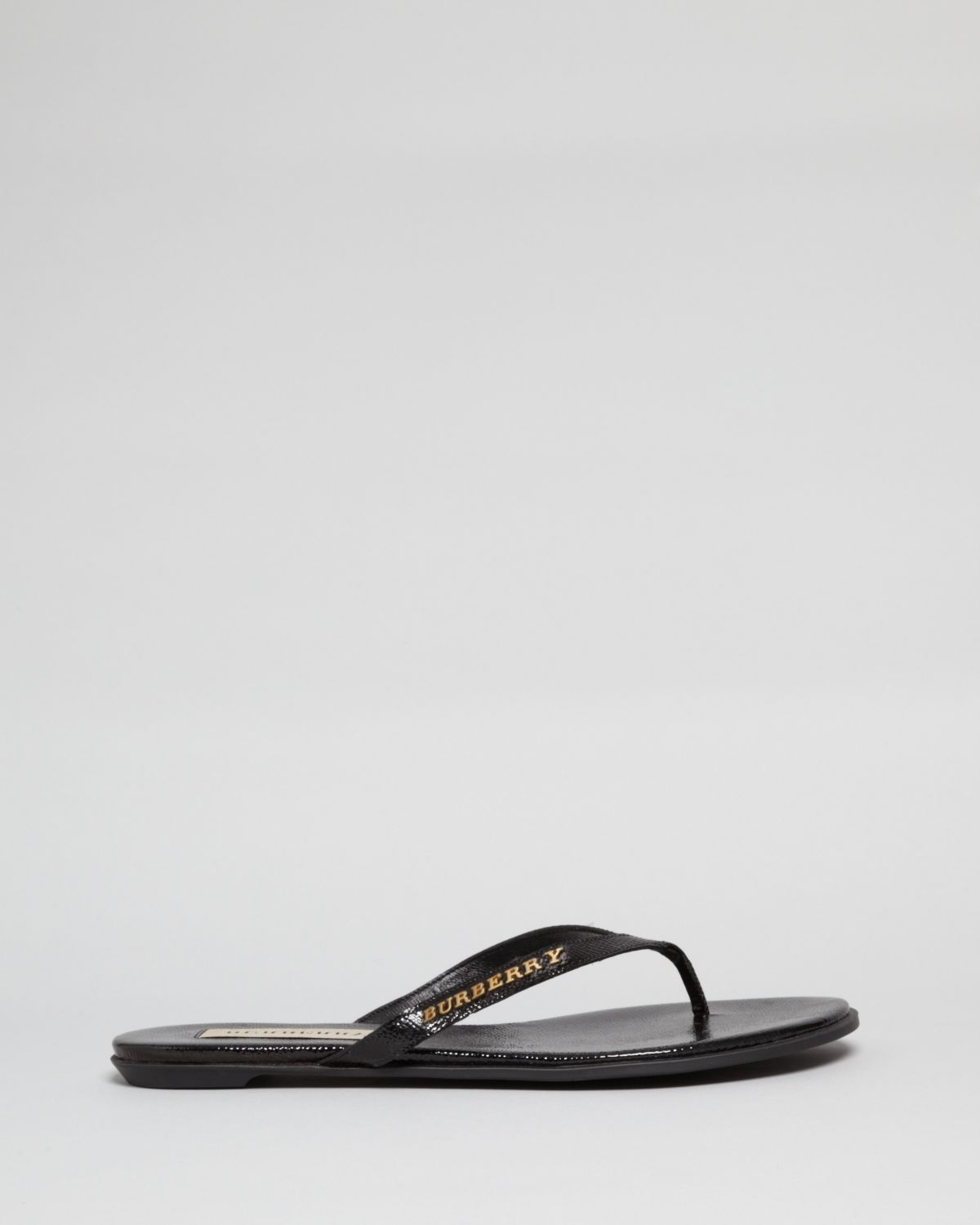 5acf8ba2772e Lyst - Burberry Flip Flop Thong Sandals Bloomhall in Black