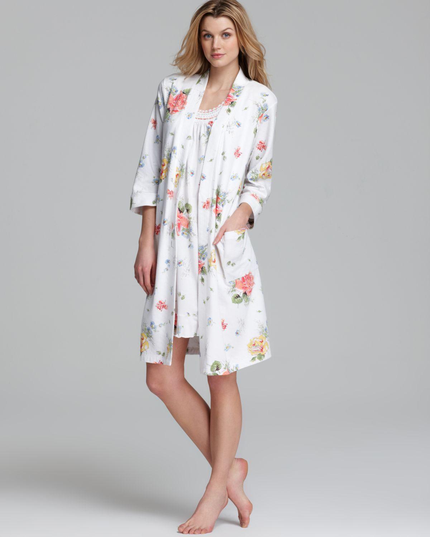 Lyst - Carole Hochman Floral Robe