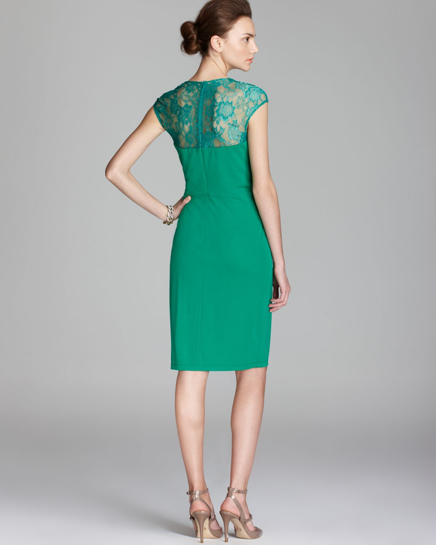 David Meister Green Evening Gown