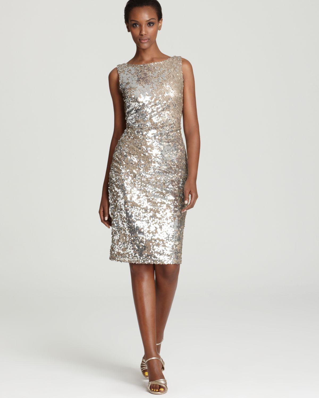 David Meister Sequin Dress