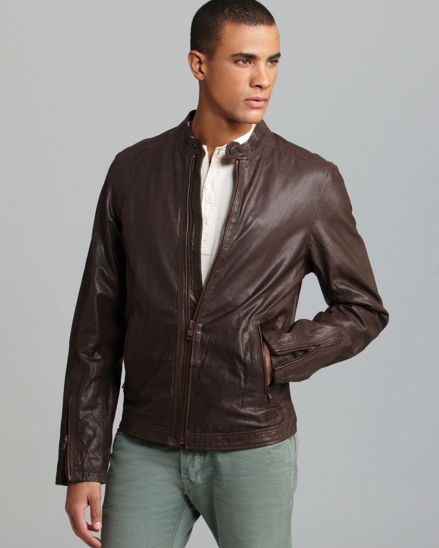 Diesel Lagnum Leather Jacket In Brown For Men Lyst