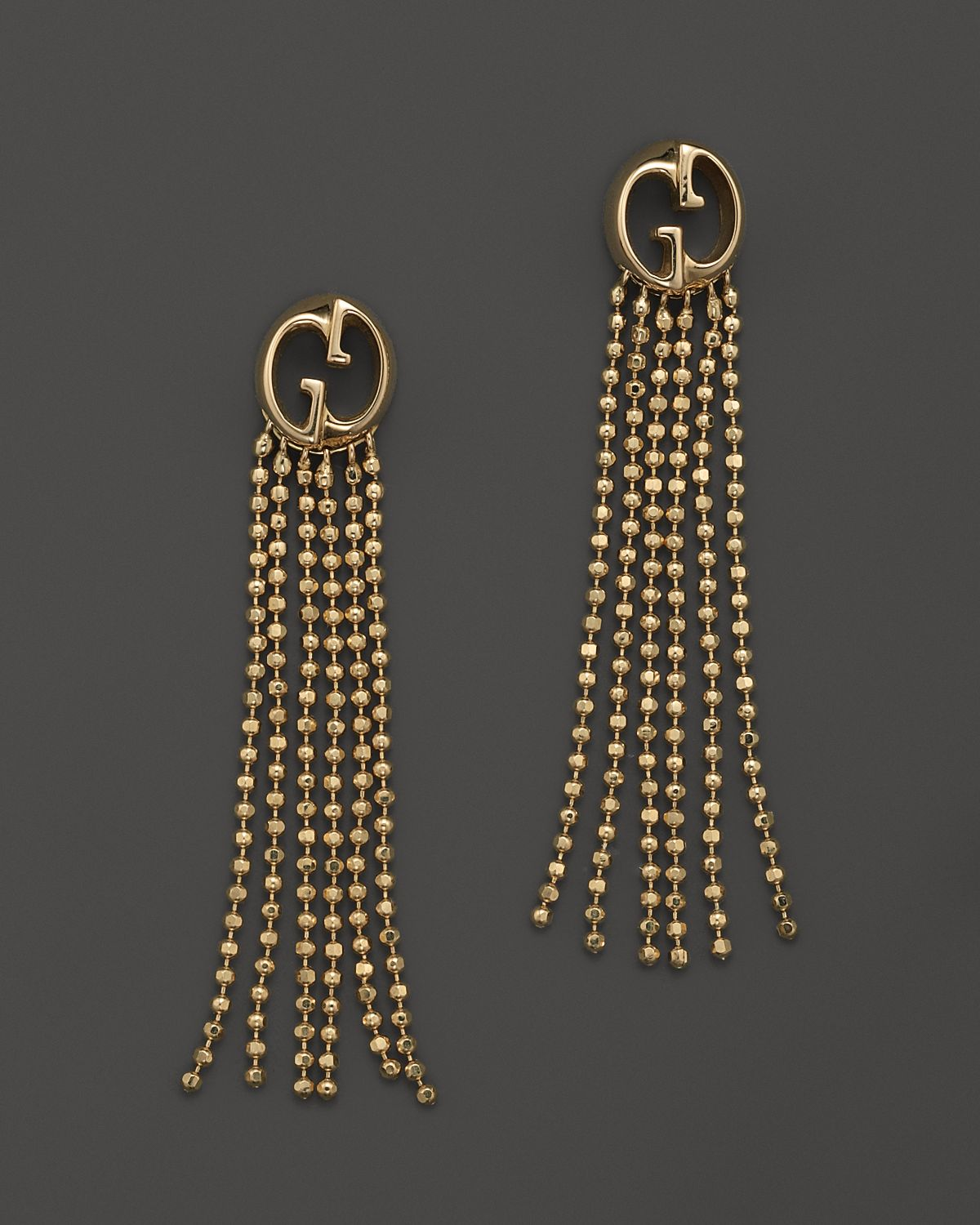 4e6233655 Gucci 18k Yellow Gold Earrings with Fringe in Yellow - Lyst