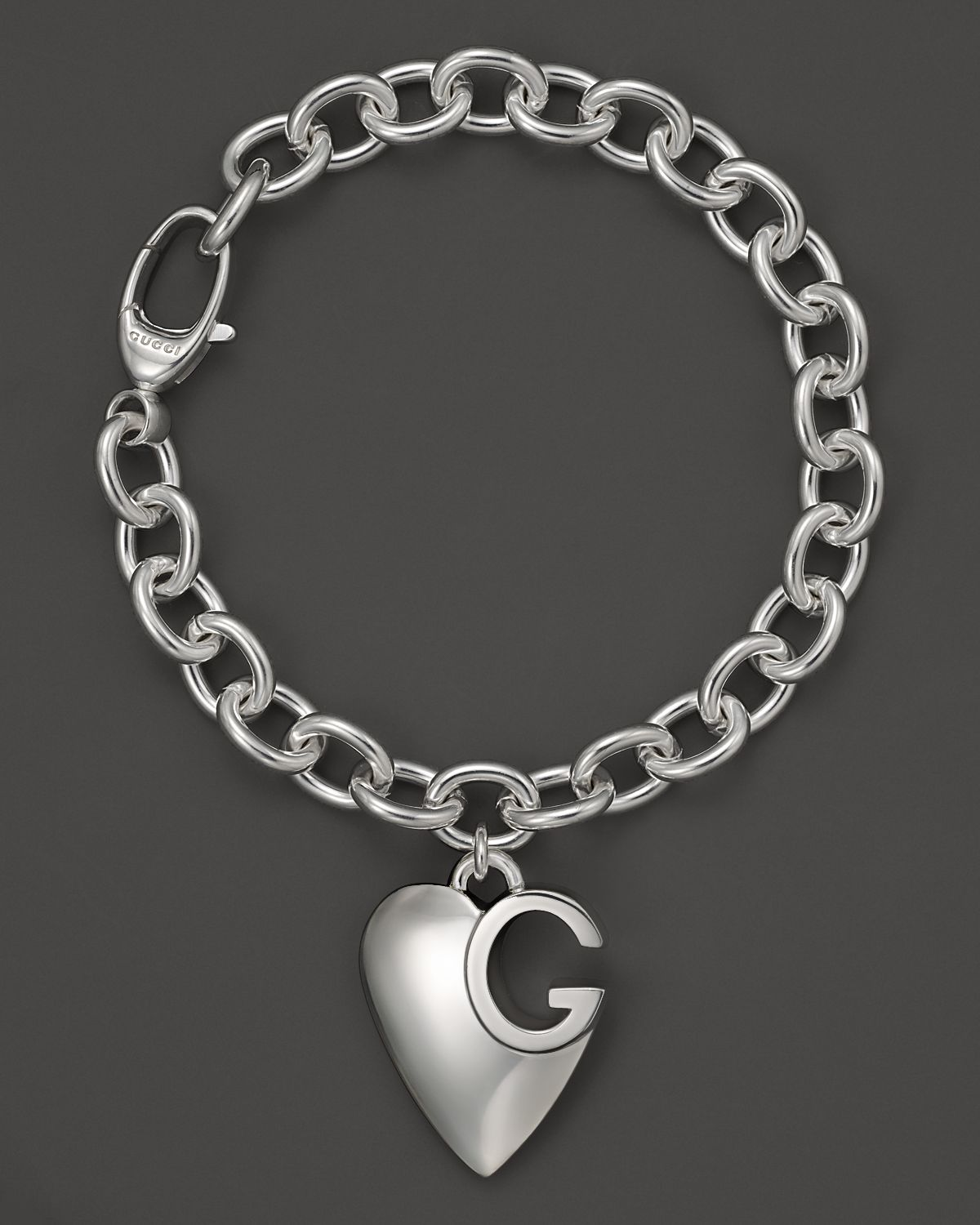 Metal Charm Bracelets: Gucci Sterling Silver Lucky Charms Bracelet With