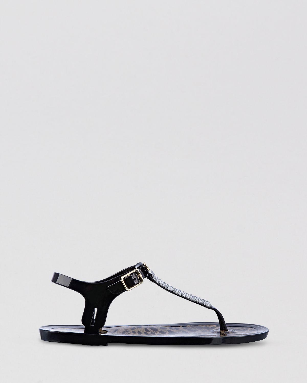 Black sandals rhinestones - Guess Sandals Nemo Rhinestone Jelly In Black Lyst