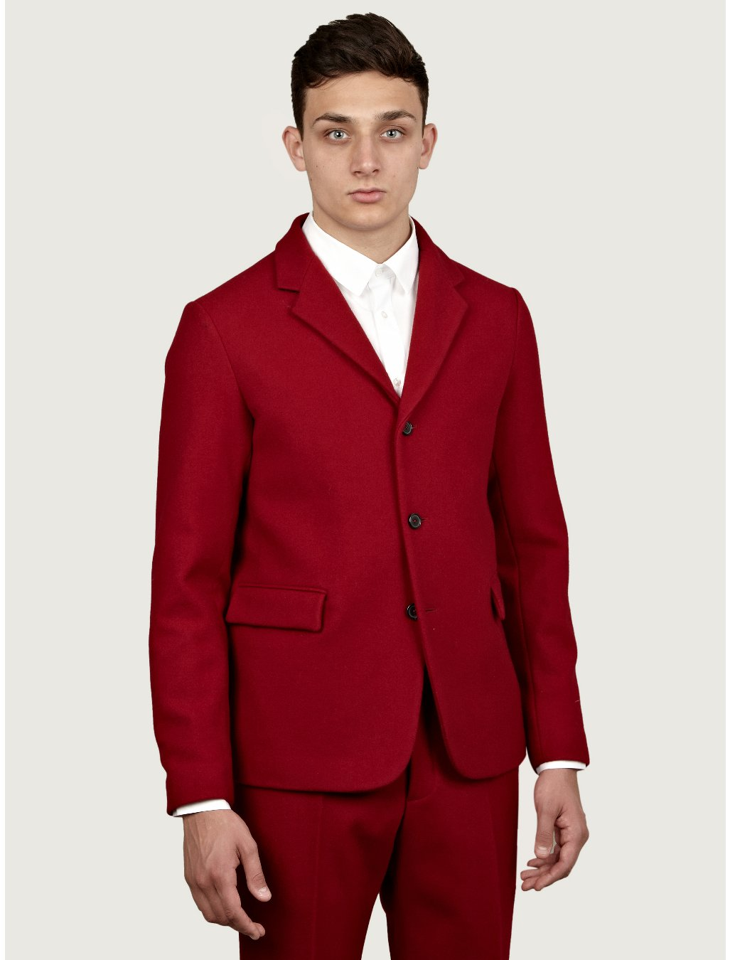 jil sander mens britta woollen jacket in red for men lyst. Black Bedroom Furniture Sets. Home Design Ideas