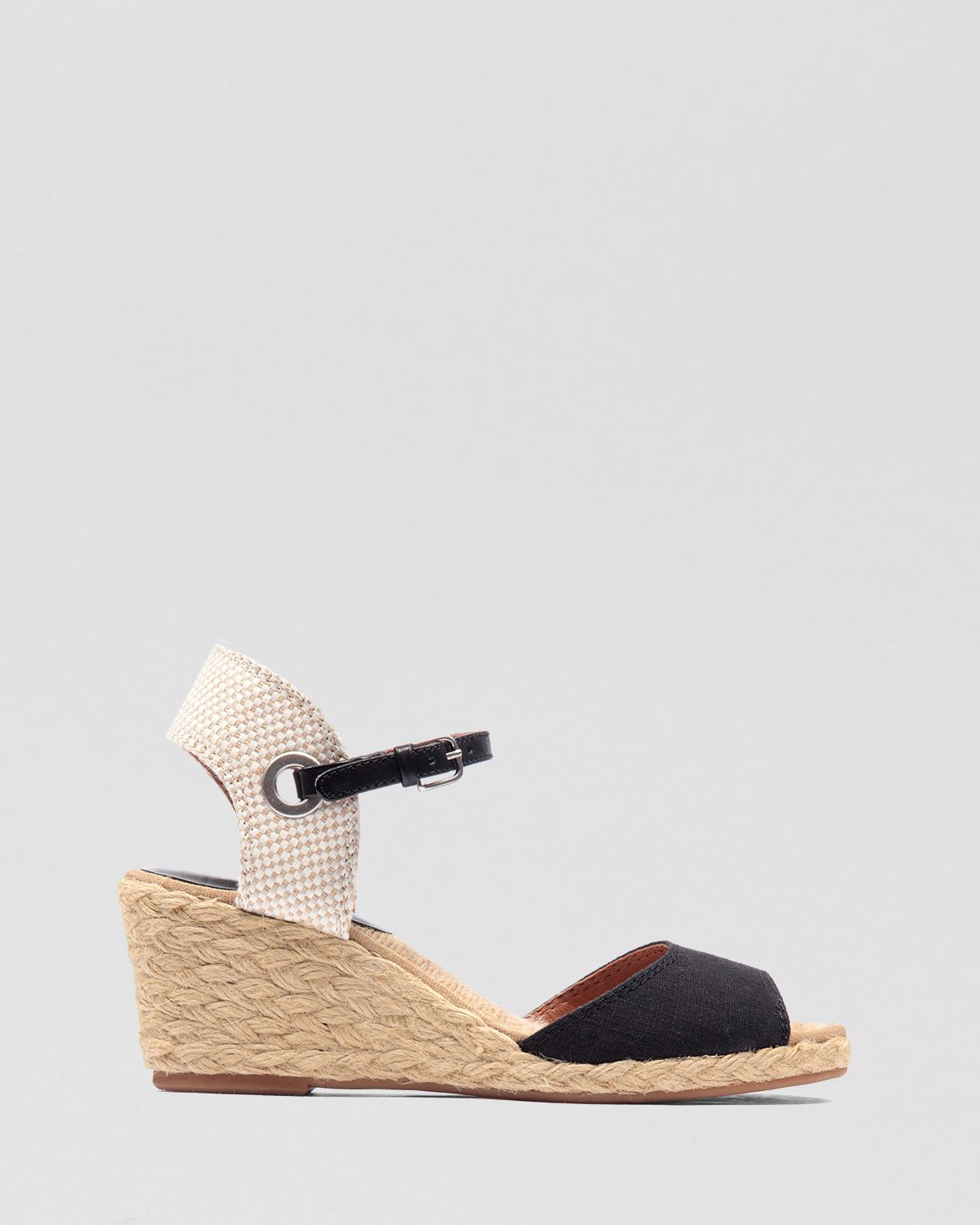 d2b18494c Lucky Brand Espadrille Wedge Sandals - Kyndra in Black - Lyst