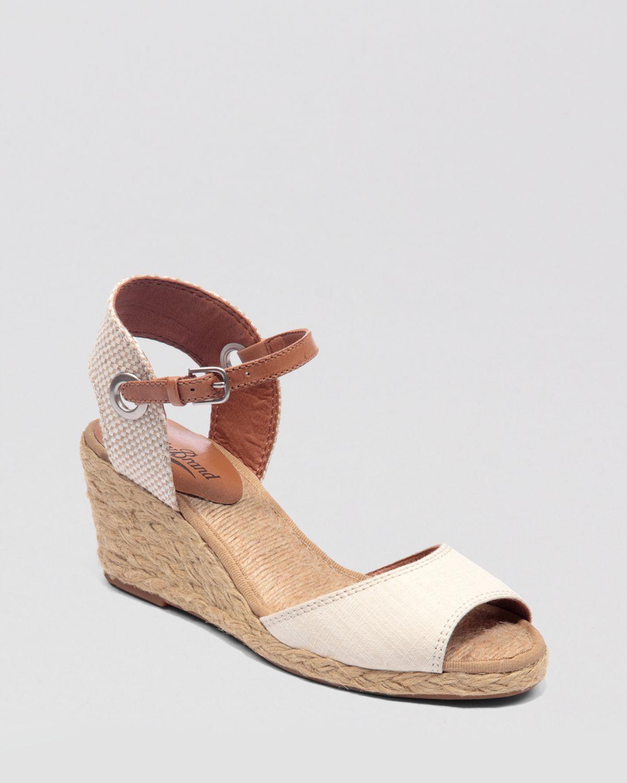 lucky brand espadrille wedge sandals kyndra in black lyst