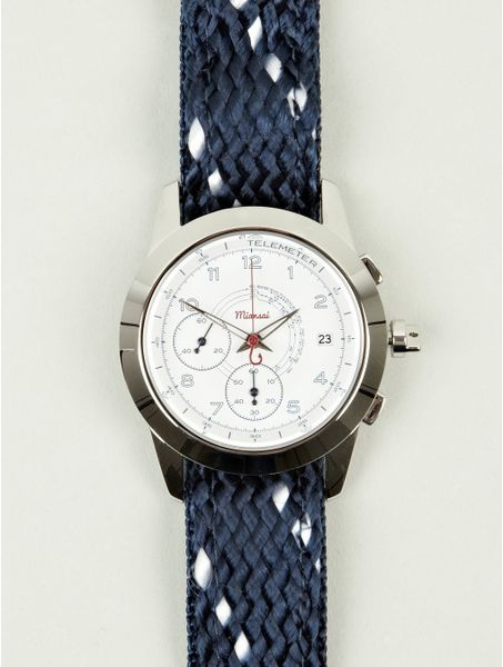 miansai m2 chronograph navy rope and leather