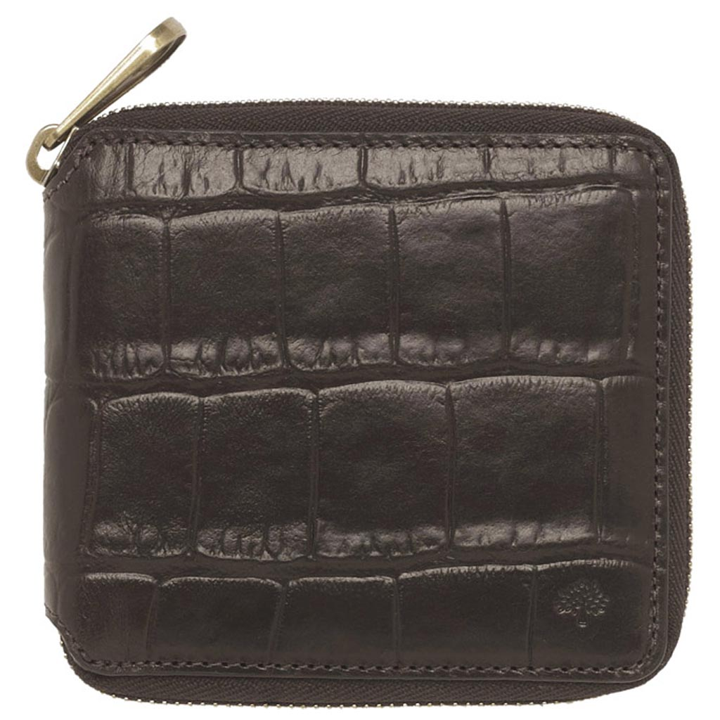 a0cf293480 Lyst - Mulberry Mens Zip Around Wallet in Black