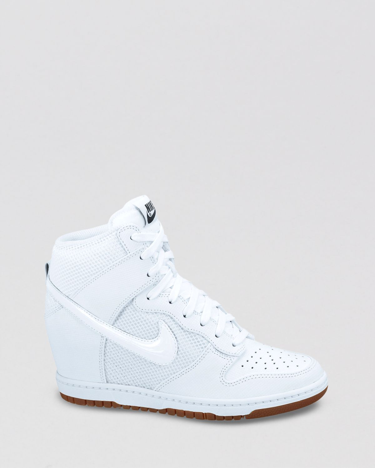 Lyst - Nike Lace Up High Top Sneaker Wedges Womens Dunk Sky Hi Mesh ... 3f7384424925