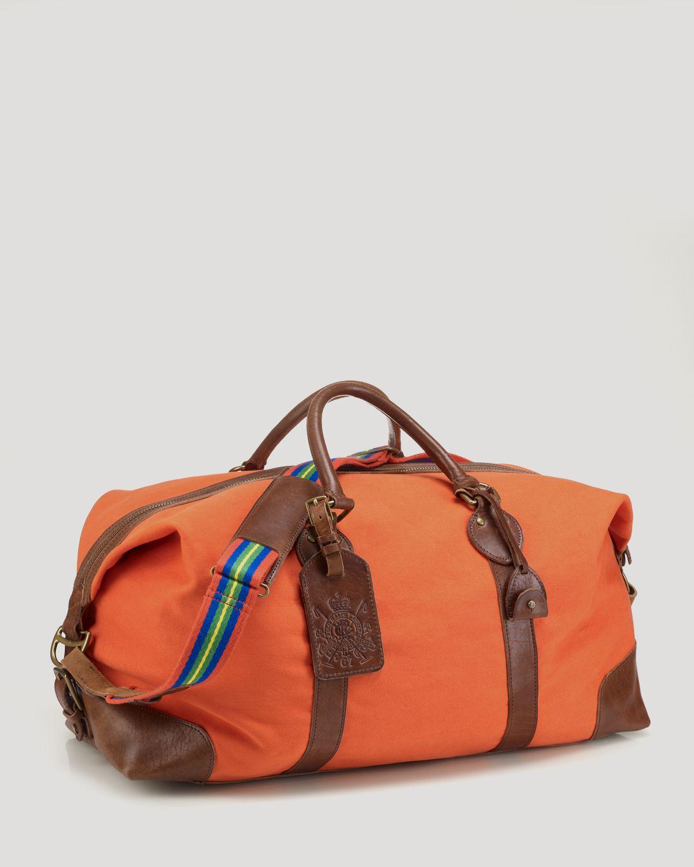 c1cc2005a34 Lyst - Ralph Lauren Polo Equestrian Canvas Duffel Bag in Orange for Men