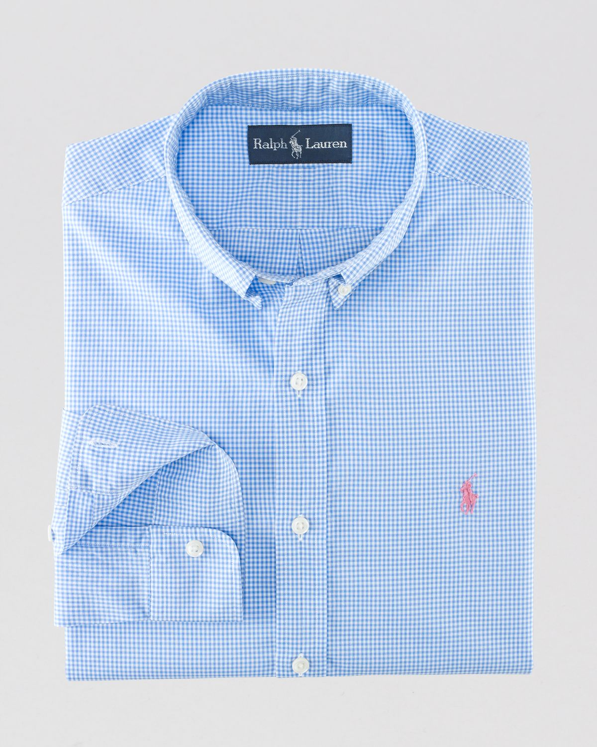 Ralph lauren Polo Custom Fit Checked Button Down Shirt in Blue for ...