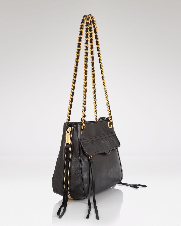 Lyst - Rebecca Minkoff Shoulder Bag - Swing Leather in Blue befcab500c3b0