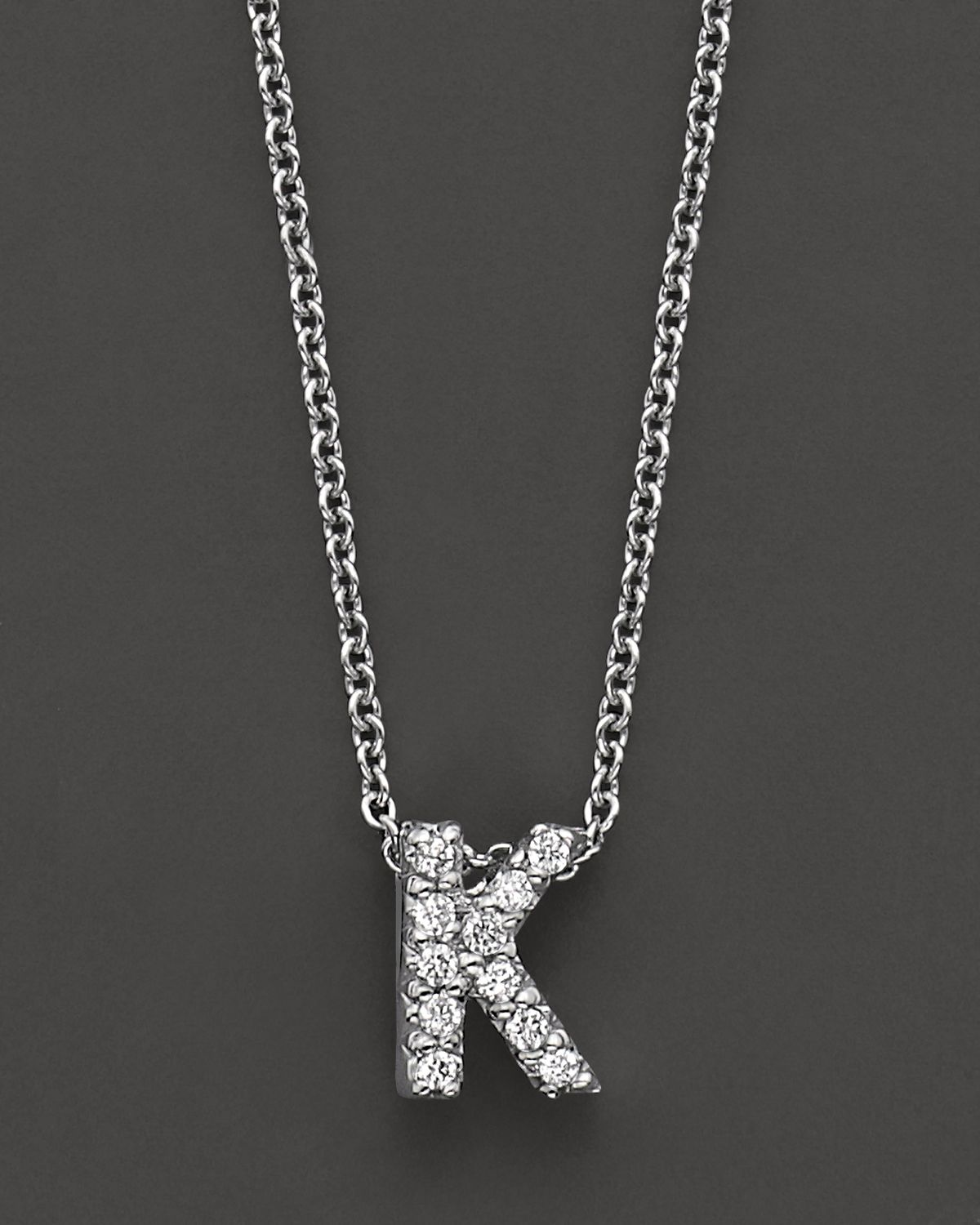 Lyst roberto coin 18k white gold love letter initial pendant gallery previously sold at bloomingdales womens initial necklaces mozeypictures Choice Image