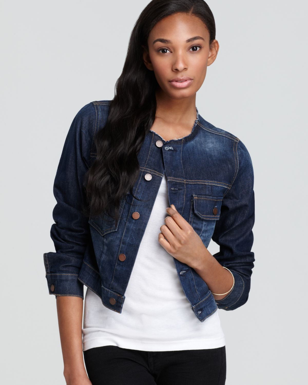 Gallery. Previously sold at: Bloomingdale's · Women's Collarless Jackets - Textile Elizabeth And James Textile Elizabeth James Jacket