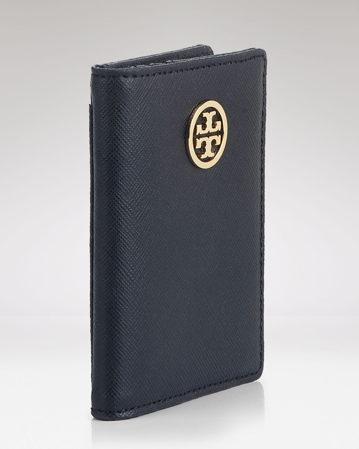 Tory Burch Card Case Robinson Transit Pass Holder In Black Lyst