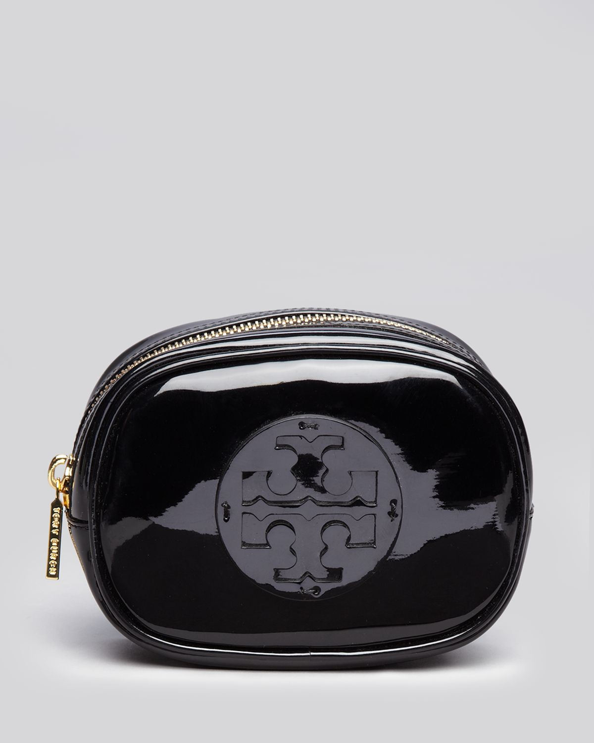 Tory Burch Cosmetic Case Small Patent Black Lyst