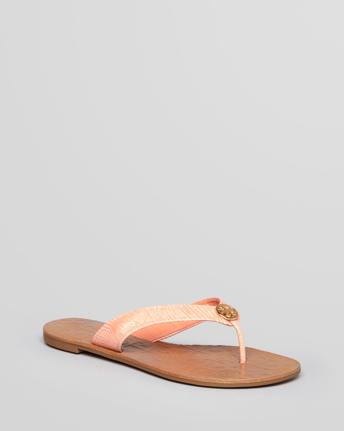 c20859a8d3b5 Lyst - Tory Burch Thong Sandals Thora 2 in Pink