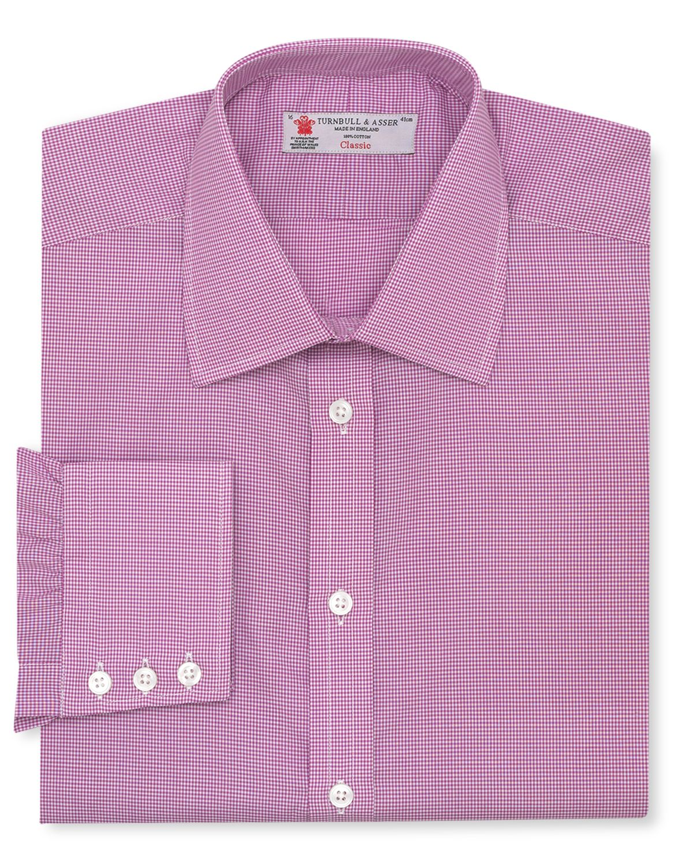 Turnbull Asser Mini Gingham Dress Shirt Classic Fit In