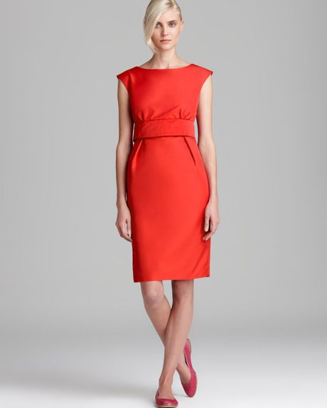 weekend by maxmara dress adito in red orange lyst. Black Bedroom Furniture Sets. Home Design Ideas