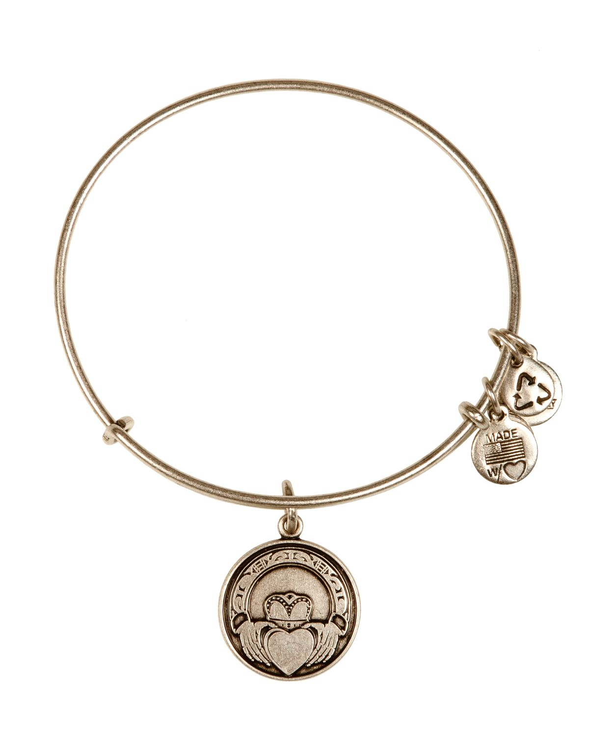 Alex and ani claddagh bangle in silver russian silver lyst