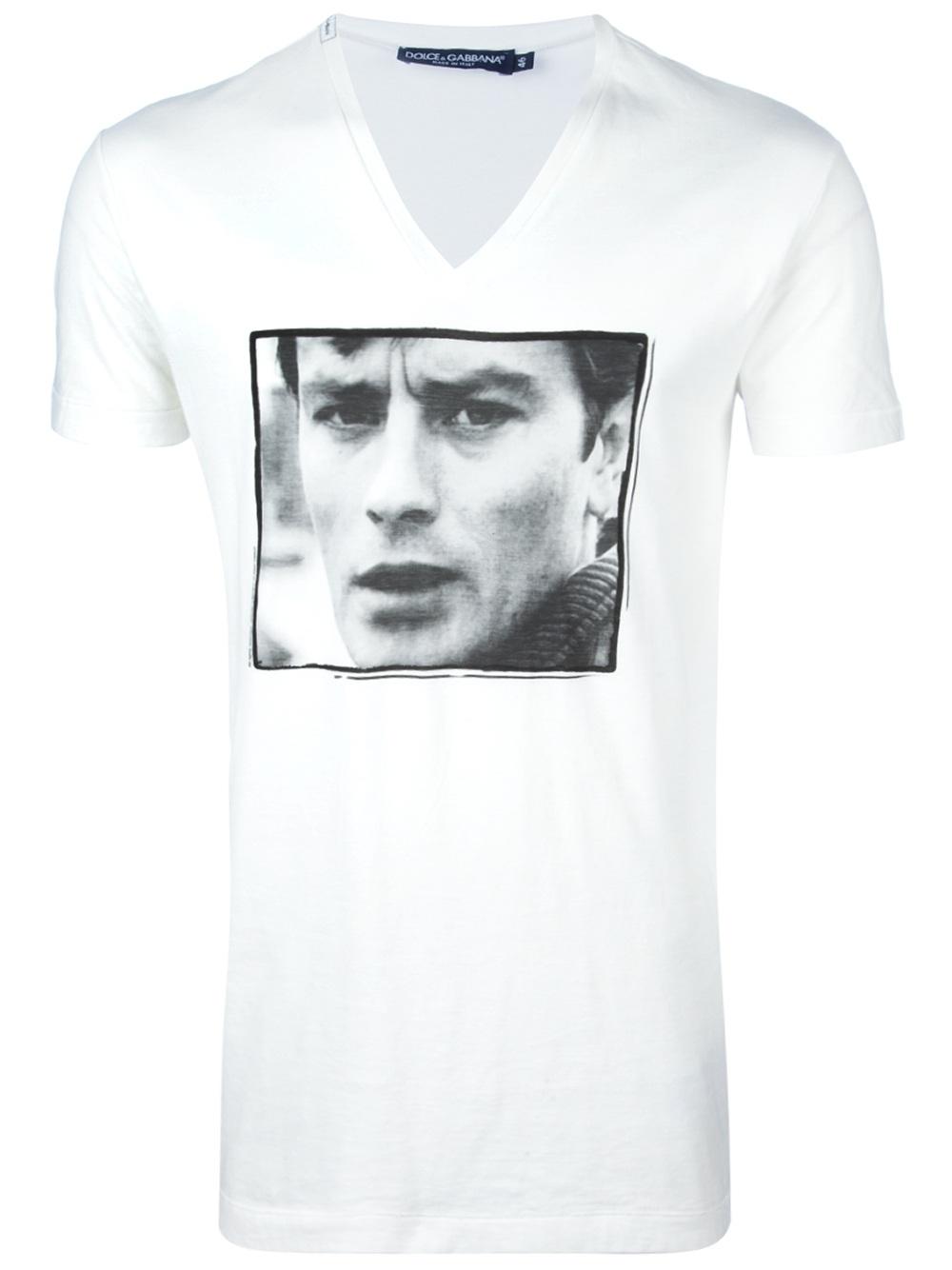 ec79ed0efe1a81 Lyst - Dolce   Gabbana Alain Delon Tshirt in White for Men
